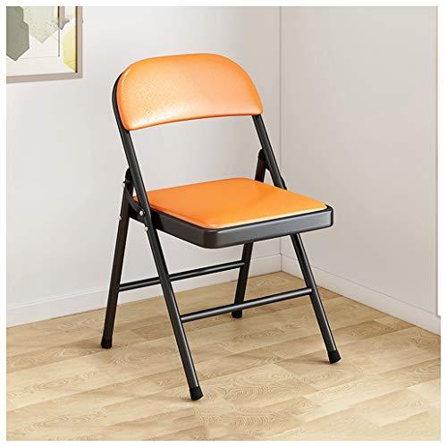Silla plegable Juego de 4 sillas plegables Sillas plegables para acampar Silla de cuero Asiento resistente y duradero Suave y...