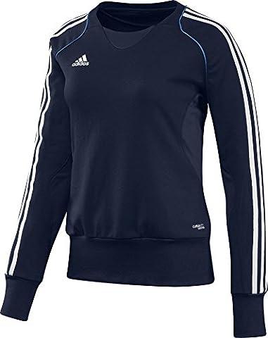 adidas T12 Crew Sweatshirt femme Collegiate Navy FR : 54 (Taille Fabricant : 54)