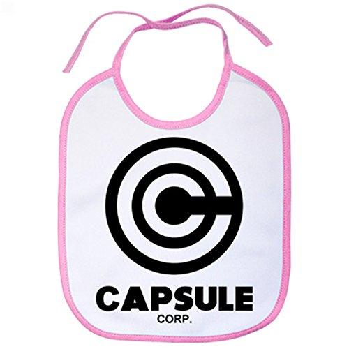 Babero Dragon Ball Capsule Corp - Rosa