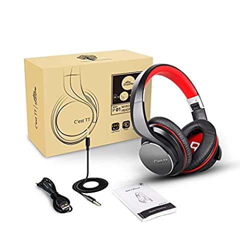 Bluetooth Over Ear Headphones with Microphone,C'est Foldable DJ Shareme Wireless