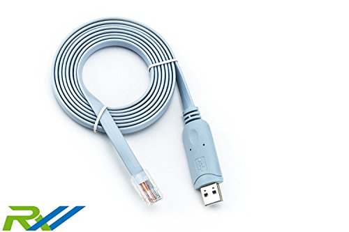 RoutersWholesale - 6 Ft FTDI USB to RJ45 for Cisco Console Cable Windows 8,  7, Vista MAC Linux RS232