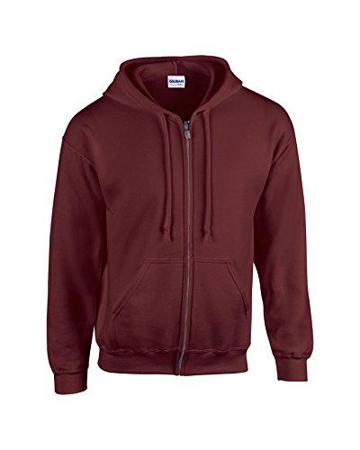 Maroon Kapuze Sweatshirt (Gildan Herren HeavyBlend Full Zip Kapuzen-Sweatshirt L,Maroon)