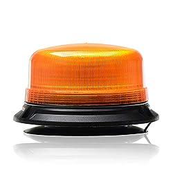 Gelbe LED Rundumleuchte Warnleuchte Blitzleuchte Magnet mit Zulassung 12 Volt