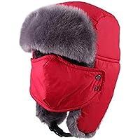 Zxcvb Sombrero Sombrero de algodón de Invierno para Hombre Sombrero Coreano Lei Feng Gorras de Invierno Noreste Cálido Gorra de esquí Sombrero de Hombre Viejo (Color : Do, tamaño : One Size)
