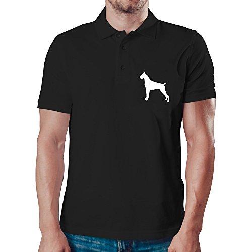 Eddany Boxer Silhouette Polo-Hemd (Boxer Hund Silhouette)