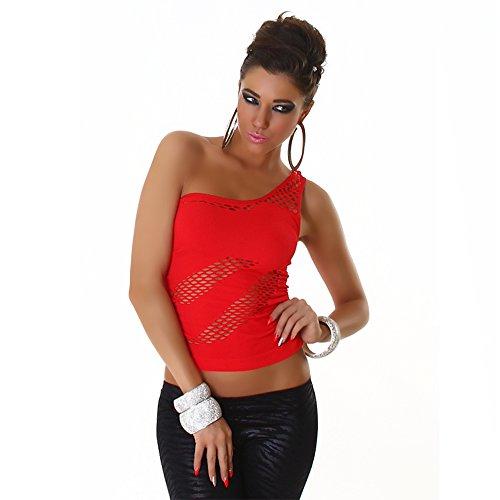 B[ ]X - Débardeur - Une épaule - Col asymétrique - Femme red