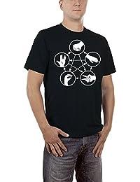 Touchlines Stein Schere Papier Echse Spock, T-Shirt Homme
