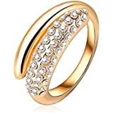 widding fashion gold plated Ring size 8