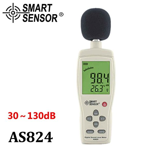 Aiming SMART Sensor AS824 30~130 dBA 35~130dBC Mini Digital Sound Geräuschpegel Meter Decibel Sound Pressure Tester Ab System-tester