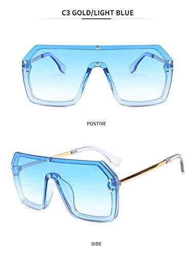 Wang-RX Großen Rahmen verbunden Sonnenbrillen Wasserzeichen Buchstaben Hip-Hop Männer Frauen Sonnenbrillen Mode Flat Top einteilige Sonnenbrille 15 Farben