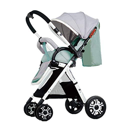 Facing sun Leichter Kinderwagen mit Verstellbarer Markise Hohe Tragfähigkeit Mehrfache Stoßdämpfung Aluminiumrahmen Klappbarer Kinderwagen Geeignet für Kinderwagen von 0 bis 3 Jahren für Neugeborene