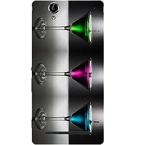Casotec Martini Design Hard Back Case Cover for Sony Xperia T2 Ultra
