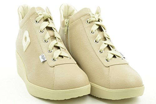 AGILE BY RUCO LINE woman sneakers low wedge 226 NEW SPAKO l. beige 39 Beige
