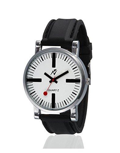 Yepme Alvez Unisex Watch - White/Black -- YPMWATCH1368 image
