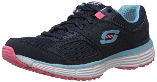 Skechers USA Agility - Perfect Fit - zapatillas de caña baja de sintético mujer, color azul, talla 36