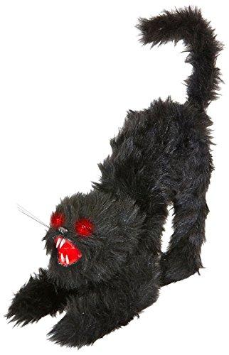 Widmann-Katze mit leuchtenden Augen und Miau unisex-adult, Schwarz, One Size, vd-wdm04882