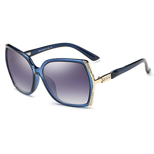 Sonnenbrillen Sonnenbrille Polarisiertes Licht Big Frame Fashion Diamond Drive Retro Schütze deine Augen ( Farbe : Blau )