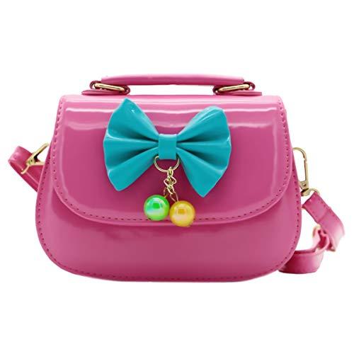 Scheppend Fashion Little Girls Handtasche Kinder Tasche Japanned Leder Tasche Rosa - Single Strap Tote