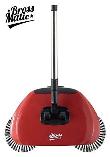BARBACADO Balai mécanique, BrossMatic, balai rouge, balai manuel, brosses rotatives, balai sans fil,ménage écologique