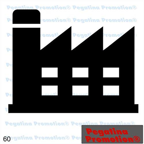 Piktogramm Typ 60 Icon Symbol Zeichen Fabrik Betrieb Industrie Firma Arbeitgeber Aufkleber ca.15cm von Pegatina Promotion® Aufkleber mit Verklebehilfe von Pegatina Promotion® ohne Hintergrund geplottet - Firma Icon