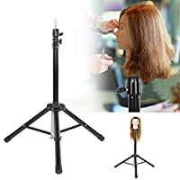Hairdressing Tripod, Beauty Wig Stand Training Mannequin Tripod Stand Hair Wig Head Holder with Storage Bag