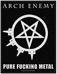 Arch Enemy parche–Pure Fucking Metal–Arch Enemy Patch–tejida & licencia oficial..