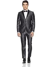 V Dot Men's Peak Lapel Regular Fit Suit (Pack of 2)