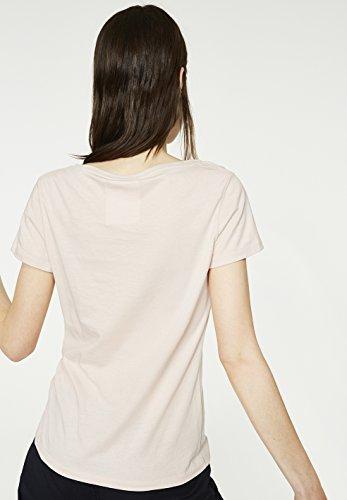 ARMEDANGELS Damen T-Shirt aus Bio-Baumwolle - Mari Ginkgo Leaves - GOTS, ORGANIC, CERES-008 Nude