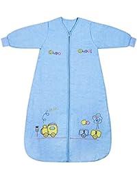 Slumbersac Saco de dormir de bebé Invierno manga larga aprox. 3.5 Tog, trenecito - varias tallas: nacimiento hasta 10 años
