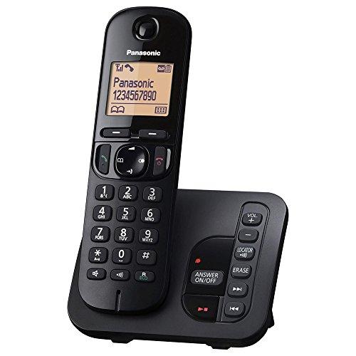 Panasonic KX-TGC220GB Schnurlostelefon mit AB KX-TGC220 schwarz (Wand-schnurlos-telefon)