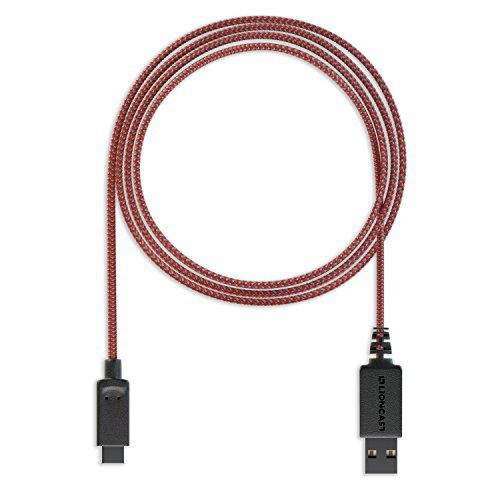 Lioncast USB-C Ladekabel für Nintendo Switch, Joy-Con Charging Cable, gleichzeitiges Aufladen und Spielen an der Nintendo Switch-Docking-Station mit USB-C-Stecker möglich - 3m Länge
