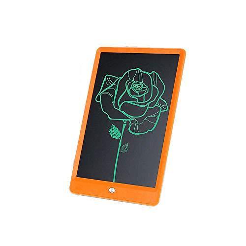 Preisvergleich Produktbild Moerc 10-Zoll-Monochrom-LCD-Schreibtablett Abriebfestes elektronisches Schreiben Zeichnen Doodle Board Office Home School Handschrift Pad Grafikkarte Papierloses LCD-Zeichenbrett (Color : Orange)