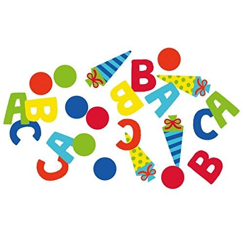 1. Schultag - Dekoset Einschulung - Servietten, Luftballons & Konfetti ABC - 9