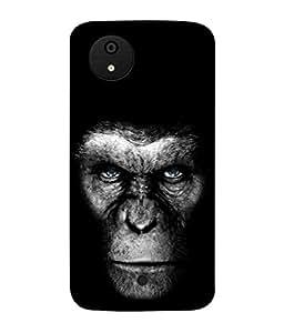 PrintVisa Designer Back Case Cover for Micromax Canvas Android A1 AQ4501 :: Micromax Canvas Android A1 (The Monkey Face In Black Design)