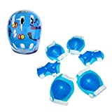 #6: Phenovo Kids Helmet Knee Elbow Wrist Protective Pad Set for Inline Skating Bike Blue