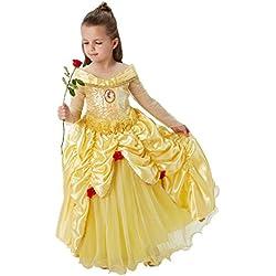 Disney Princesas Disfraz infantil Bella Premium, M (Rubie's Spain 620473-M)