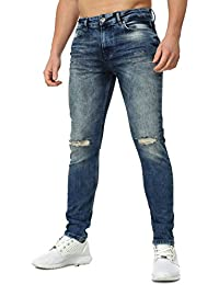 VSCT Homme destroyed jeans AMARANTE Millésime Ablution Mince Fit Section