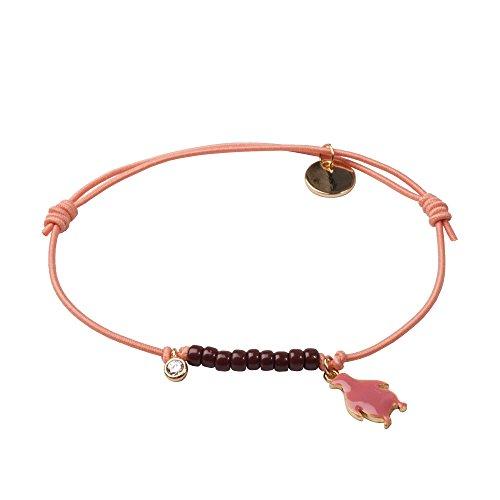(lua accessories - Armband Damen - Elastikarmband - größenverstellbar - Tiermotiv - Animal Farm (Pinguin/nude))