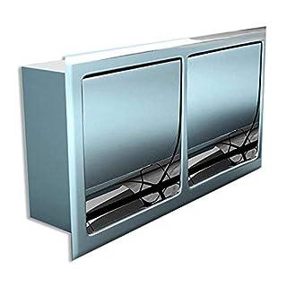 Toilettenpapierhalter Cubito32B, Material: verchromtes Messing, Unterputz, BTH:30x6,7x16cm