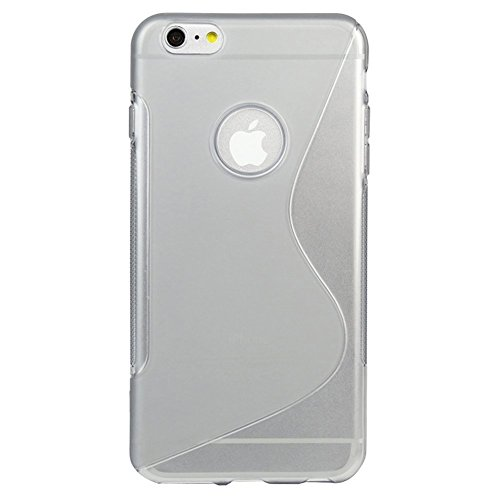 Apple iPhone 6s Plus Glasfolie Panzerglas TPU Hülle Tasche Schutzglas Glas 9H, Farben:Blau Transparent