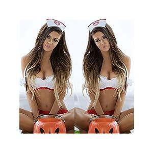Sexy Kleidung Dessous Maid Cosplay Sexy Uniform Krankenschwester Rolle Spielen Anzug Frech Versuchung Krankenschwester Uniform Hot Krankenschwester Kostüm Nachtwäsche Set_ (Weiß) Cosplay Kostüm