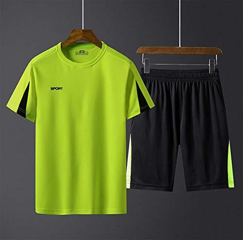 WFXZT Sport - Turnhalle im Sommer Laufen Männer Kurzarm - Shorts fünf Hosen, trockenen Sommer Trainingsanzug Locker Geschwindigkeit