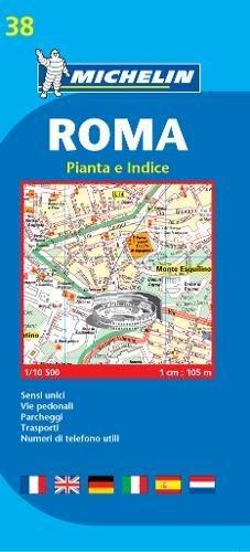 Plano Plegable Roma (Planos Michelin) por Vv.Aa
