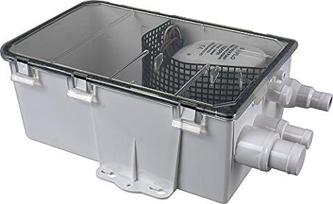 SEAFLO 24V 600GPH Shower Sump Pump System Box Multi Inlet