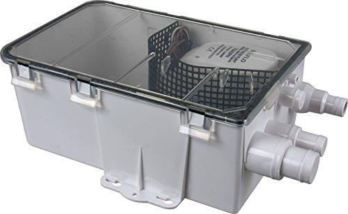 Seaflo 24V 750GPH bomba para cárter de ducha (con caja de sistema de entrada Kit de drenaje automático sumergible bomba de agua