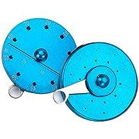 enshey Dental Gutta Percha cortador de punto calibre rueda Endo Apex Tamaño -1pc, aleación de aluminio, azul o rojo