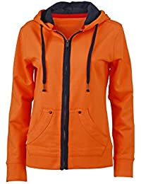 James & Nicholson – Urban Sweat N9294, mujer, Urban Sweat, naranja / azul marino, L