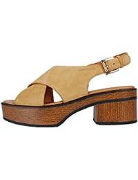 Vagabond Noor Natural Beige Sandal–Sandales Beige cuir daim