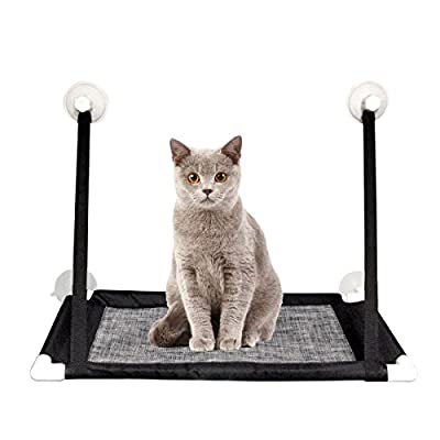 LIVEHITOP Sunny Seat Window Cat Perch Mounted Cats Bed Hammock with Heavy Duty Suction Cups Holds Up To 20lbs, Easy To Install