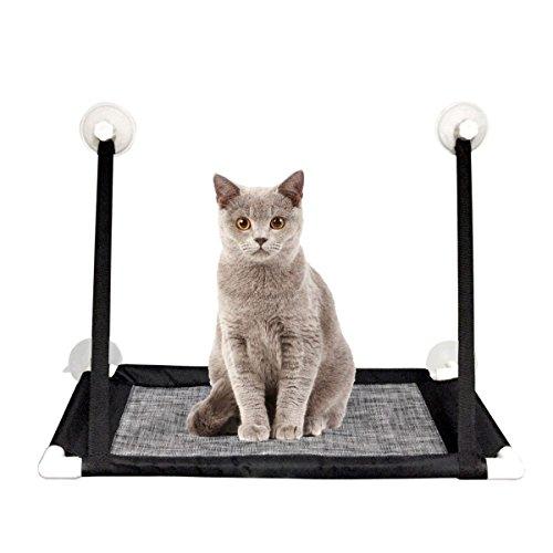 Sunny Seat Window Cat Perch - MAIKEHIGH Mounted Cats Hamaca para cama con ventosas para trabajo pesado con capacidad para hasta 10 kg, fácil de instalar